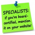 "Specialists: ""Board Certification"" & Your Website"